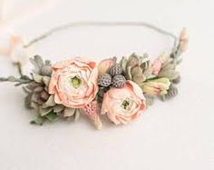 Image result for wedding succulents headband