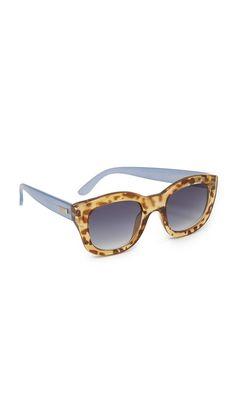 c41ddd1d8d Le Specs Runaway Sunglasses - Leopard Tort Chambray/Smoke Gafas, Sunnies,  Gafas Bonitas