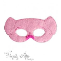 Pig Mask ITH Embroidery Design