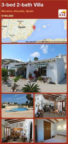 3-bed 2-bath Villa in Moraira, Alicante, Spain ►€195,000 #PropertyForSaleInSpain