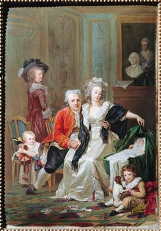 The family of Mégret de Sérilly by Jacques Thouron, 1787
