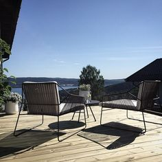 What a day! On the terrace with two Oasiq club chairs - Sandur collection by Mark Gabbertas - www.oasiq.com