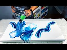 #229 - Blue Lagoon Dutch Pour | Acrylic Pour Painting - YouTube Art Painting Gallery, Painting Videos, Painting Lessons, Painting Techniques, Acrylic Pouring Art, Acrylic Art, Pour Painting, Resin Art, Creative Art
