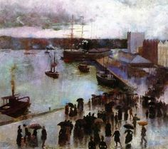 Departure of the Orient - Circular Quay - Charles Conder - The Athenaeum