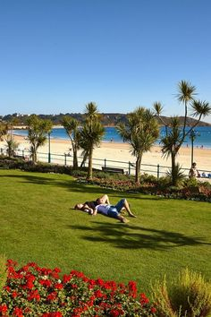 A picturesque park beside a beautiful beach in Jersey, Channel Islands #EscapeToJersey