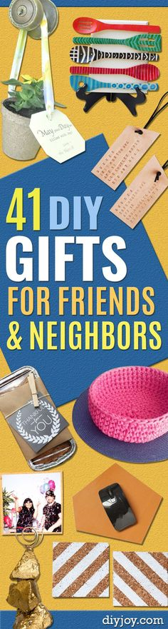 Best DIY Gifts for Neighbors - Cute Mason Jar Crafts, Gift Baskets and Cheap and Easy Gift Ideas to Make for Friends - Do It Yourself Projects You Can Sew and Craft That Make Awesome DIY Gifts and Homemade Christmas Presents