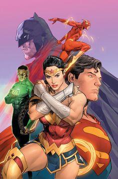 Justice League Art by Clay Mann Arte Dc Comics, Dc Comics Superheroes, Dc Comics Characters, Dc Comics Poster, Comic Books Art, Comic Art, Book Art, Univers Dc, Batman And Superman