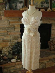 Wedding Bustier custom dress with any style skirt Marilyn Monroe 1950s vintage inspired lace dress. $845.00, via Etsy.
