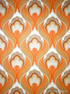 Original retro wallpaper & vinyl wallcovering from the sixties & seventies -