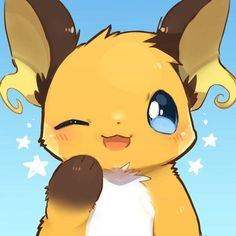 Pichu Pikachu Raichu, Pokemon Eeveelutions, Pokemon Funny, Cool Pokemon, Pokemon Images, Kawaii Art, Anime Demon, Furry Art, Rock Painting