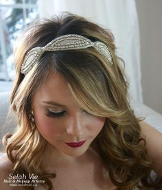 The Melissa Rhinestone Hair Band Selah Vie Hair and Makeup Artistry has recently opened our online shop selling a wide variety of Bridal Ribbon Hairbands, Bridal Headbands & Rhinstone Hair Combs. Selah Vie also offers the option to CUSTOM ORDER a hair piece or belt that best suits you! Prices vary and are available to buy online at www.selahvie.ca #Hair #Bridal #photoshoot #BridalHair #BridalBling #HairBling #Rhinestones #Haircombs #Bling #Pictureperfect #Beauty #LoveYourself #londonON…