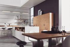 Drewniane meble w nowoczesnej kuchni? Jak najbardziej! Drewno jest jednym z najszlachetniejszych i najbardziej uniwersalnych surowców który świetnie sprawdza się zarówno w klasycznych jak i nowoczesnych aranżacjach. Co więcej materiał ten bardzo ociepla wnętrze nadając mu elegancji i klasy Możemy zdecydować się na całe drewniane fronty bądź tylko blaty - w obu przypadkach na pewno będzie wyglądać świetnie!