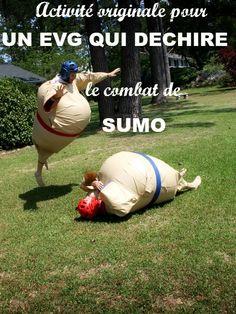 Une idée sympa d'activité pour un enterrement de vie de garçon ? Un combat de sumo ! Oui mais comment s'y prendre ? On peut se faire livrer le matériel ou est-ce qu'on doit prévoir un détour par un parc d'aventure dans le planning de l'enterrement de vie de garçon ? #enterrementdeviedegarçon #evg
