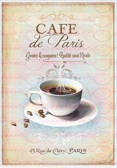 vintage decoupage café de Paris