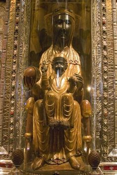 According to tradition, the statue of the Black Virgin of Montserrat was carved by St. Luke around 50 AD & brought to Spain, it changed color because of its age. It was later hidden from the Moors in a cave (Santa Cova,the Holy Grotto), where it was rediscovered in 880 AD. According to the legend of the discovery,which was first recorded in the 13th century,the statue was discovered by shepherds. They saw a bright light & heard heavenly music that eventually led them to the grotto & the…