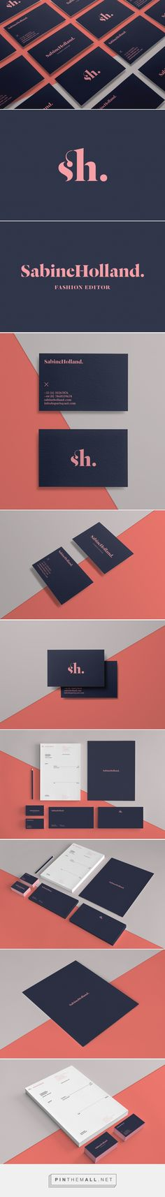 Sabine Holland: Fashion Editor Branding on Behance - created via http://pinthemall.net