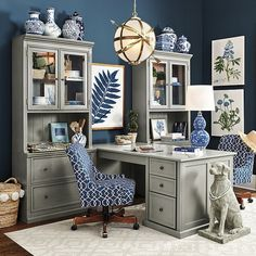 Home Office Room Design Ideas Home Office Space, Home Office Design, Home Office Furniture, Home Office Decor, Home Decor, Office Ideas, Grey Furniture, Furniture Ideas, Office Inspo