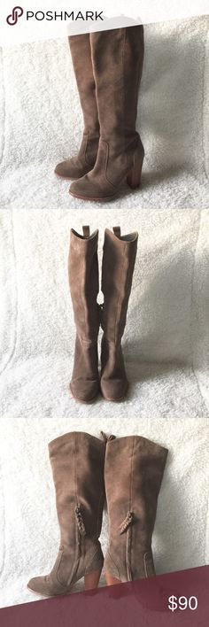 Joie Dagney High Suede Boots Good used condition. Joie Shoes Heeled Boots