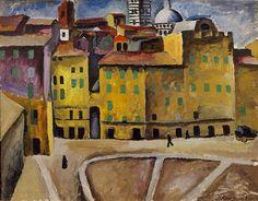 Piotr Konchalovsky, Piazza della Signoria, Siena, 1912