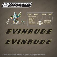 Evinrude 3 hp Ducktwin decals