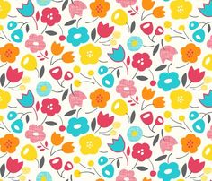 Floral Essence © Leanne Hatch - Spoonflower