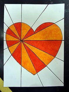 I dag har jag haft genomgång om OP-konst med åk 5. Jag visade en PP som jag satt ihop för att de ska ha lite kunskap om själva begreppet och konststilen. Därefter gick jag steg för steg igenom hur … Valentines Art Lessons, Heart Artwork, Kindergarten Art Projects, Mandala Artwork, Shape Art, Art Lessons Elementary, Arte Pop, Teaching Art, Printable Art