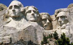 Le mémorial national du Mont Rushmore, situé près de la ville de Rapid City dans l'État du Dakota du Sud, USA