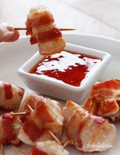 Bekijk de foto van borgi met als titel bacon wrapped chicken bites en andere inspirerende plaatjes op Welke.nl.
