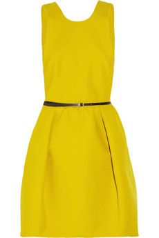 yellow structured dress #fabandfrugal #miami #fashion #summer