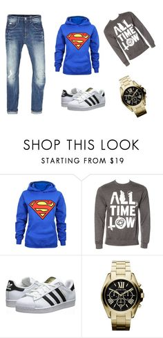 """""""Untitled #1"""" by belmin13 ❤ liked on Polyvore featuring G-Star Raw, adidas Originals and Michael Kors"""