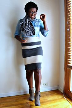 Item of the Week :: Striped Pencil Skirt - Kinks are the new Pink