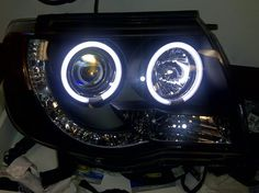 Toyota Tacoma Headlights: I have these only yota Custom Toyota Tacoma, 2015 Toyota Tacoma, Toyota 4x4, Toyota Trucks, Toyota Tundra, Tacoma Headlights, Aftermarket Headlights, 2016 Tacoma Accessories, 2006 Tacoma