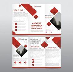 Red Square Business Trifold Leaflet Brochure Flyer Report Template Vector Minimal Flat Design Set, A - Huhn Handwerk Leaflet Layout, Booklet Design, Brochure Layout, Flyer Design, Design Set, Report Template, Layout Template, Flyer Template, Templates