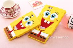 "Cartoon 3D cute SpongeBob Soft Silicone Case cover for Apple iphone 6 plus 4.7"" #Romrichcaseshop"