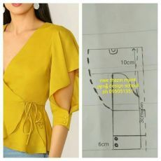 Source by wanita Dress Sewing Patterns, Blouse Patterns, Clothing Patterns, Blouse Designs, Kurti Sleeves Design, Sleeves Designs For Dresses, Fashion Sewing, Diy Fashion, Fashion Dresses