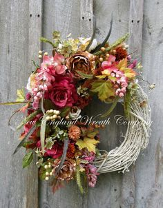 Autumn Victorian Cottage Wreath  ~A New England Wreath Company Designer Original~