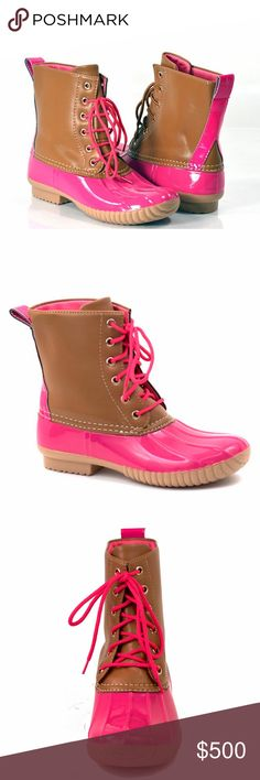 COMING SOON!  Duck Boots PINK Will be priced at $78 PRICE FIRM Reserve your size today! Shoes Winter & Rain Boots