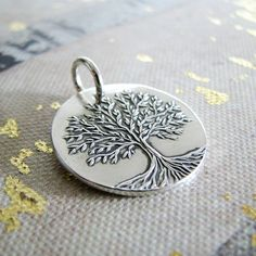 Spring Fine Silver Tree Pendant Artisan Handmade by SilverWishes