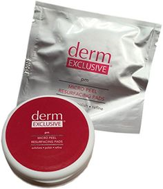 Derm Exclusive Micro Peel Resurfacing Pads 30-Day Supply Exfoliate-Refine-Polish >>> Check out the image by visiting the affiliate link Amazon.com on image.
