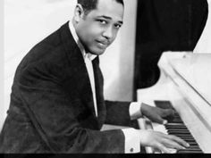 """A Moment In African-American History Duke Ellington Edward Kennedy """"Duke"""" Ellington was an American composer, pianist and bandleader of jazz orchestras. He led his orchestra from 1923 until his death, his career spanning over 50 year   Ramones, Bebop, Paris 3, Paris Cafe, Duke Ellington, Le Piano, Playing Piano, Louis Armstrong, Orchestra"""