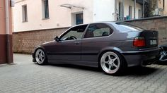BMW e36 compact on OZ Mito I wheels (8.5x18 ET 34 and 10x18 ET38)
