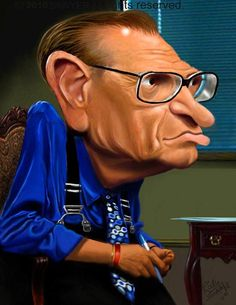 larry king...CARICATURES BY ROCKY