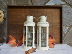 Vintage Nautical Oil Lamps Hanging Oil Lanterns by Vintassentials