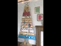 Χριστουγεννιάτικο ξύλινο δέντρο - YouTube Ladder Decor, Advent Calendar, Holiday Decor, Diy, Youtube, Channel, Home Decor, Decoration Home, Bricolage
