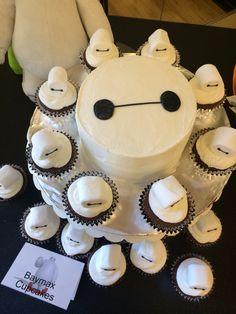 Baymax cake and cupcakes