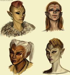 Bosmer women by kokomiko.deviantart.com on @deviantART