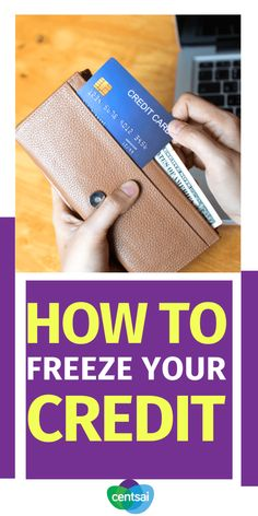 Knowing these five facts about freezing your credit can help you manage your accounts with ease, especially if your identity is stolen. Check out these 5 effective tips on how to freeze your credit. #creditcard #CentSai #creditcardtips #freezecredit Time Is Money, Earn More Money, Make Money Fast, Annual Credit Report, Credit Reporting Agencies, Money Talks, Financial Literacy, Money Matters