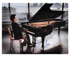 Lang, Lang - Signed photo in performance