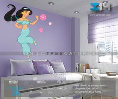 » .. Vinilo 3 14 .. « Vinilos decorativos infantiles Princesas Disney Jazmin. Sticker decorativo. Calcomanías de Pared. Decoración de muros y superficies lisas. Viniles para la decoración del hogar, pegatinas, tatuaje mural, rótulo, calca. www.vinilo314.com  www.vinilo314.mx