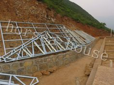 Horsea Integrated House Technology Co. Prefabricated Structures, Steel Frame House, Home Technology, Steel Structure, Steel Metal, Villa, Mountain, Construction, House Design